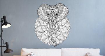 Αυτοκόλλητα Τοίχου - Boho elephant