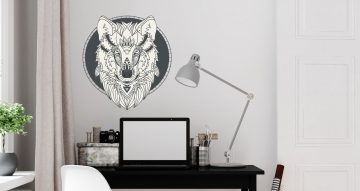 Αυτοκόλλητα Τοίχου - Wolf face