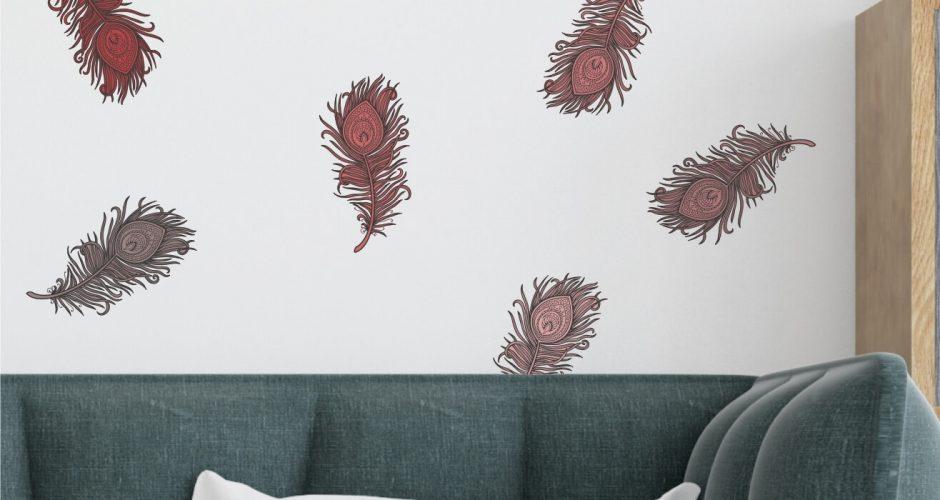 Αντικείμενα - Colored feather mandala