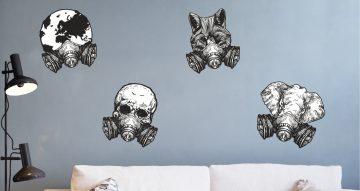 Αυτοκόλλητα Τοίχου - Φιγούρες με μάσκες