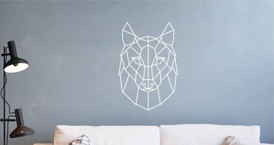 Αυτοκόλλητα Τοίχου - Geometric wolf