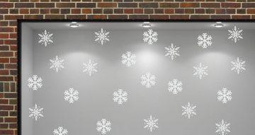 Αυτοκόλλητα καταστημάτων - White snowflakes