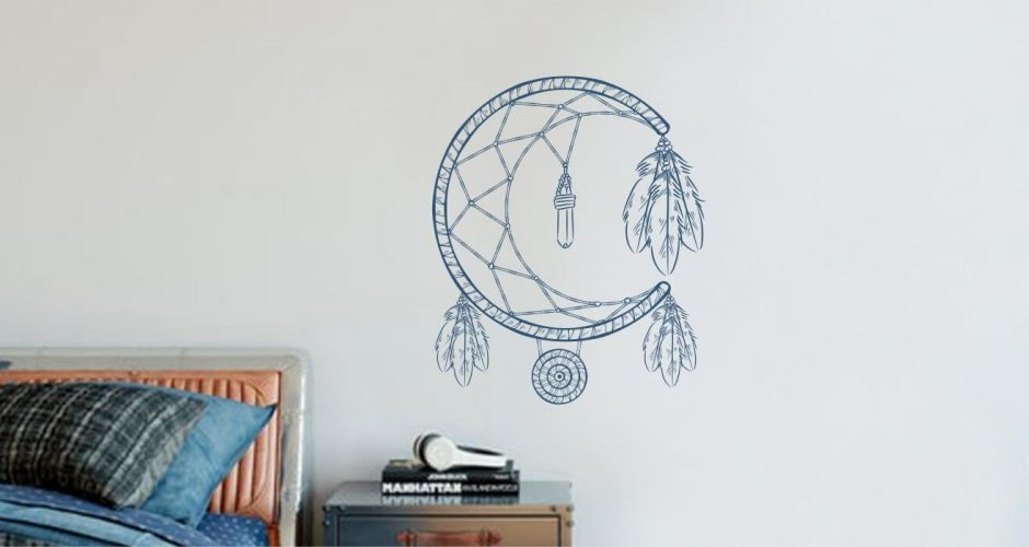 Αυτοκόλλητα Τοίχου - Dream catcher moon