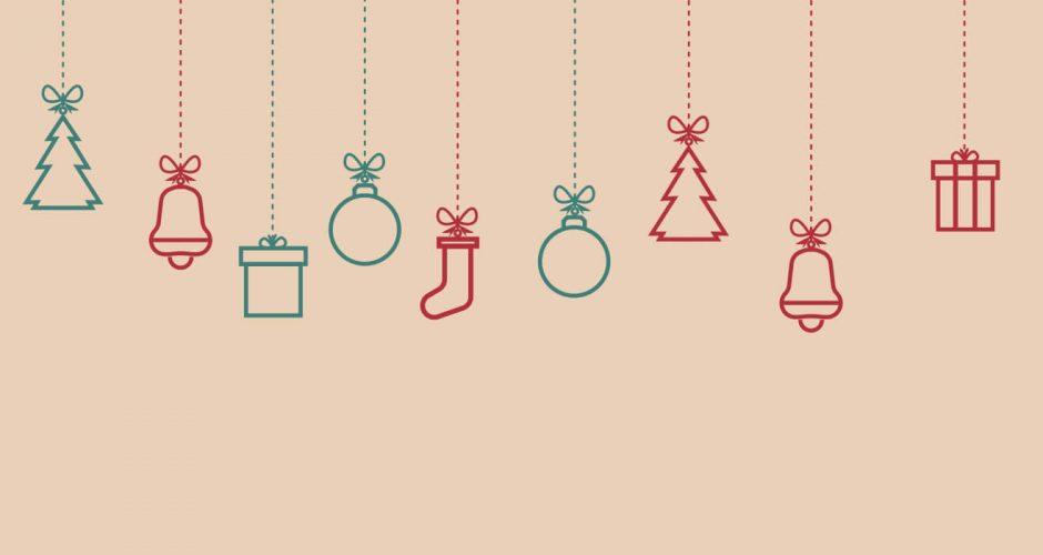 Αυτοκόλλητα καταστημάτων - Χριστουγεννιάτικα κρεμαστά στολίδια σε διάφορα χρώματα