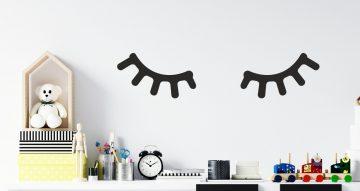 Αντικείμενα - Παιδικό αυτοκόλλητο τοίχου με βλεφαρίδες