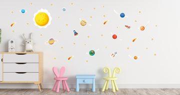 Αυτοκόλλητα Τοίχου - Το Ηλιακό μας Σύστημα! Παιδικό αυτοκόλλητο τοίχου