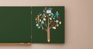 Αυτοκόλλητα καταστημάτων - Tree of education